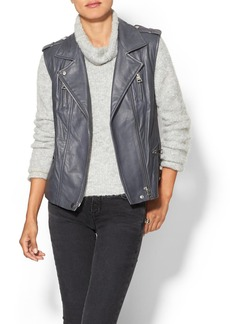 Rebecca Taylor Leather Moto Vest