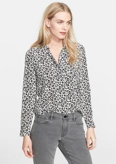 Rebecca Taylor 'Lena' Leopard Print Silk Top
