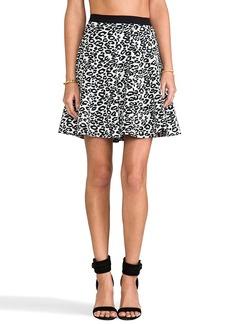 Rebecca Taylor Leo Flip Skirt in White