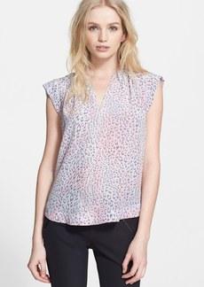 Rebecca Taylor 'Leopard Fever' Silk Top