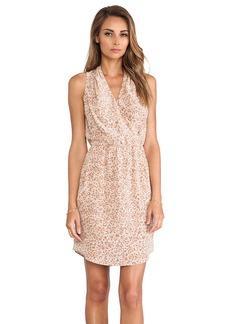 Rebecca Taylor Leopard Print Dress in Tan