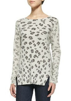 Rebecca Taylor Leopard-Print Knit Pullover