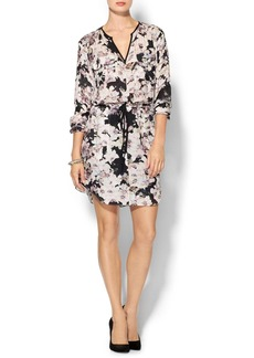 Rebecca Taylor Long Sleeve First Floral Shirt Dress