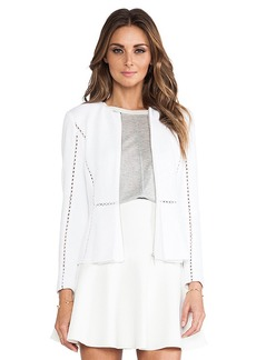 Rebecca Taylor Long Sleeve Inset Jacket in White