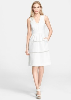 Rebecca Taylor 'Matelassé' Fit & Flare Dress