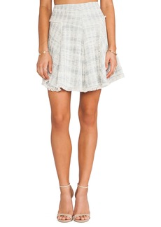 Rebecca Taylor Mixed Tweed & Lace Skirt