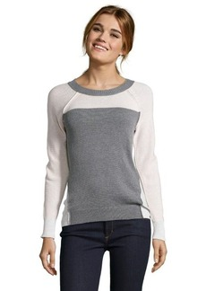 Rebecca Taylor nude combo cotton knit 'Block Pullover' raglan sleeve sweater