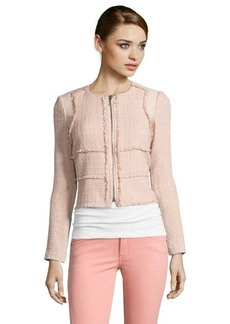 Rebecca Taylor nude patched tweed jacket