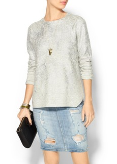 Rebecca Taylor Oversized Metallic Sweater