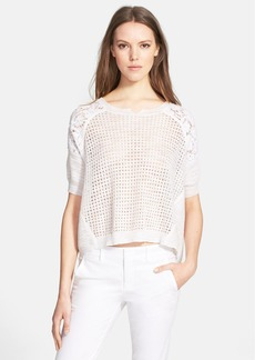 Rebecca Taylor Patchwork Popover Top