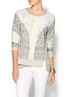 Rebecca Taylor Pieced Sweatshirt