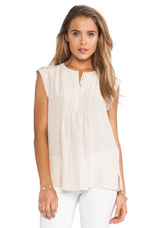 Rebecca Taylor Pin Tuck Blouse in Blush
