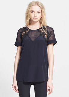 Rebecca Taylor Pintuck Lace Top