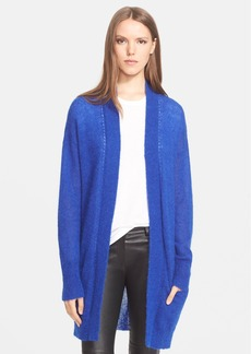 Rebecca Taylor Pointelle Detail Brushed Cardigan
