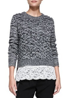 Rebecca Taylor Pom-Pom Knit Pullover