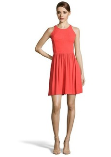 Rebecca Taylor poppy stretch cutout back sleeveless pleated dress