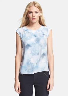 Rebecca Taylor Print Crossover Silk Top