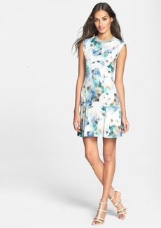 Rebecca Taylor Print Stretch Sheath Dress