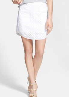 Rebecca Taylor 'Punched' Denim Skirt
