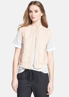 Rebecca Taylor Quilted Leather Vest