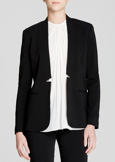 Rebecca Taylor Refined Suiting Lace Inset Jacket