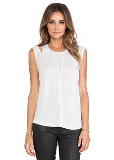 Rebecca Taylor Shoulder Cut Out Tank in Gray