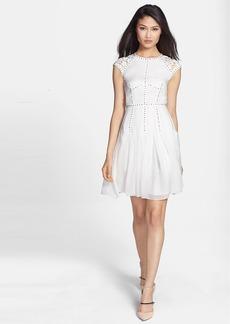 Rebecca Taylor Silk & Lace A-Line Dress