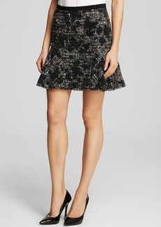 Rebecca Taylor Skirt - Flocked Floral Tweed