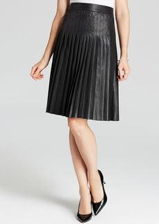 Rebecca Taylor Skirt - Pleated Faux Leather