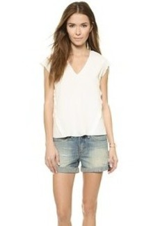 Rebecca Taylor Solid Top with Lace Back