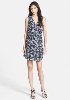 Rebecca Taylor 'Storm' Print Silk Blouson Dress
