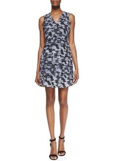 Rebecca Taylor Summer Storm Printed-Silk Sleeveless Dress