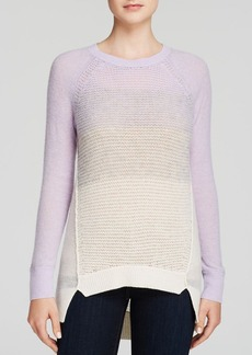 Rebecca Taylor Sweater - Ombré Mixed Stitch Pullover