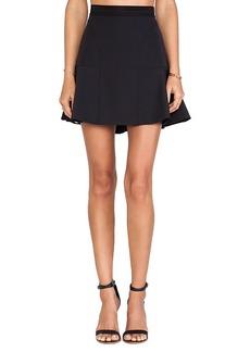 Rebecca Taylor Tech Flounce Skirt in Black
