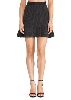 Rebecca Taylor Texture Flounce Skirt in Charcoal