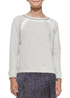 Rebecca Taylor Textured Jersey Chain-Detail Sweatshirt