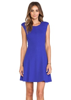 Rebecca Taylor Textured Ponte Dress in Blue