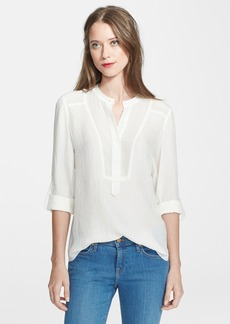 Rebecca Taylor Textured Silk Top