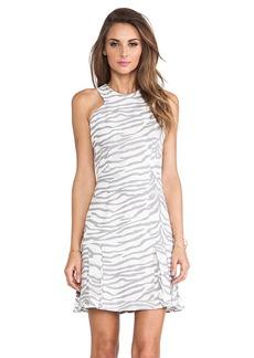 Rebecca Taylor Tiger Print Flare Dress in White