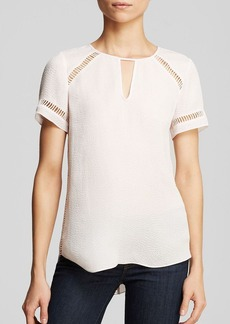 Rebecca Taylor Top - Short Sleeve Textured Silk