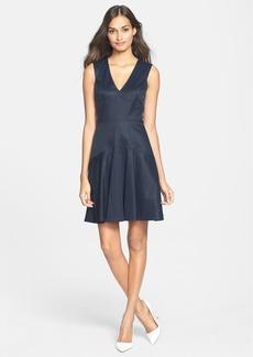 Rebecca Taylor V-Neck Poplin Dress