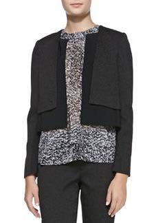 Smooth/Textured Layered Jacket   Smooth/Textured Layered Jacket