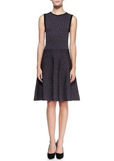 Solid-Trim Animal-Print Dress   Solid-Trim Animal-Print Dress