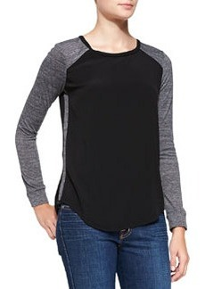 Stacy Long-Sleeve Combo Top   Stacy Long-Sleeve Combo Top