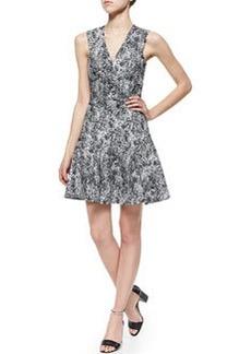 V-Neck Animal-Jacquard Dress   V-Neck Animal-Jacquard Dress