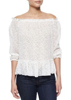 Zigzag Off-the-Shoulder Top   Zigzag Off-the-Shoulder Top