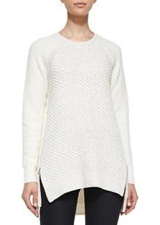 Zip-Hem Knit Pullover   Zip-Hem Knit Pullover