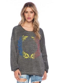 Rebel Yell Rainbow Crest Strokes Warm Up Sweatshirt