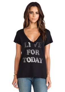 Rebel Yell Today Classic V Tee in Black