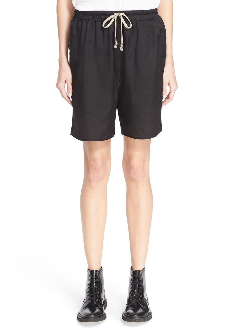rick owens rick owens drawstring shorts shorts shop it to me. Black Bedroom Furniture Sets. Home Design Ideas